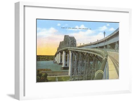 Huey P. Long Bridge, New Orleans, Louisiana--Framed Art Print