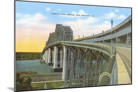 Huey P. Long Bridge, New Orleans, Louisiana--Mounted Art Print