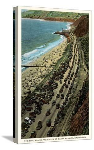 Beach and Palisades, Santa Monica, California--Stretched Canvas Print