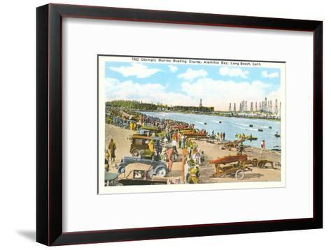 Olympic Boating Course, Long Beach, California--Framed Art Print