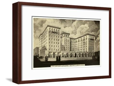 Beverly-Wilshire Hotel, Beverly Hills, Los Angeles, California--Framed Art Print