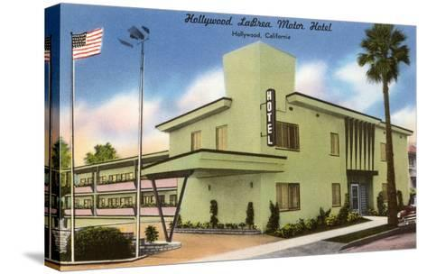 Hollywood La Brea Motel, Los Angeles, California--Stretched Canvas Print