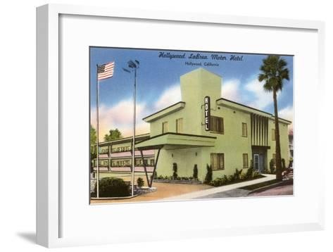 Hollywood La Brea Motel, Los Angeles, California--Framed Art Print