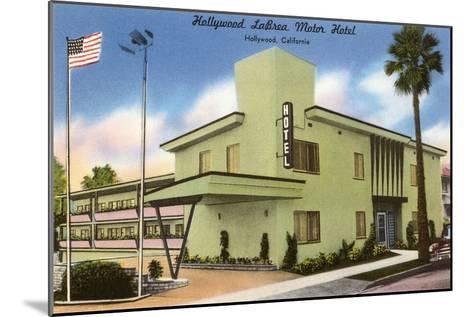 Hollywood La Brea Motel, Los Angeles, California--Mounted Art Print