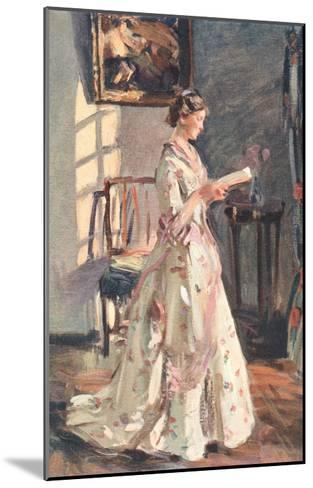 Old Fashioned Lady Reading--Mounted Art Print