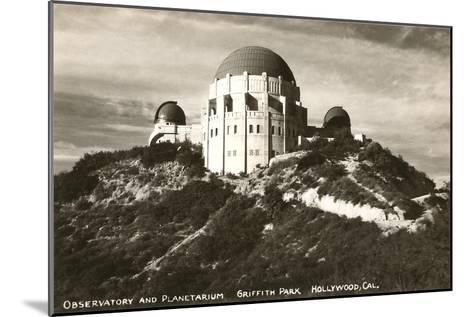 Griffith Park Planetarium, Los Angeles, California--Mounted Art Print