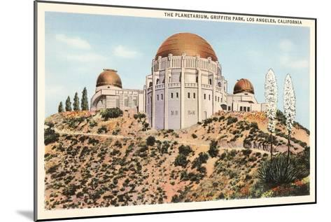 Griffith Park Planetarium, Los Angeles, California--Mounted Art Print