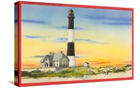 Fire Island Lighthouse, Long Island, New York--Stretched Canvas Print