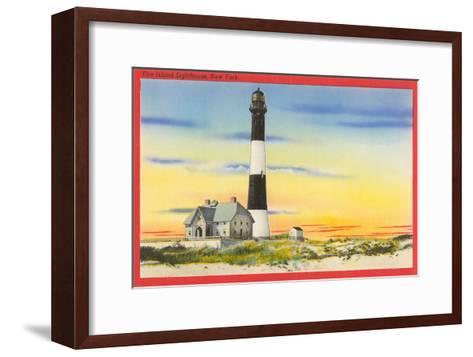 Fire Island Lighthouse, Long Island, New York--Framed Art Print