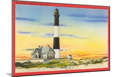 Fire Island Lighthouse, Long Island, New York--Mounted Art Print