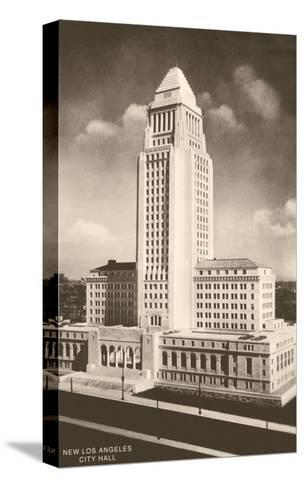 City Hall, Los Angeles, California--Stretched Canvas Print