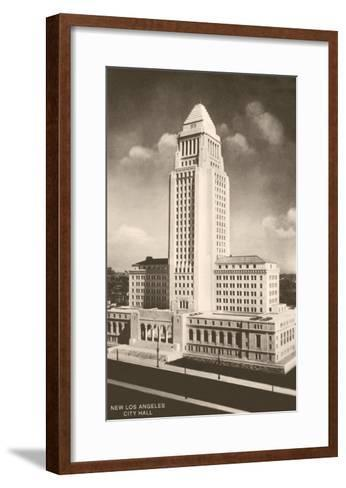 City Hall, Los Angeles, California--Framed Art Print