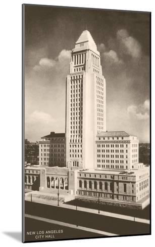 City Hall, Los Angeles, California--Mounted Art Print