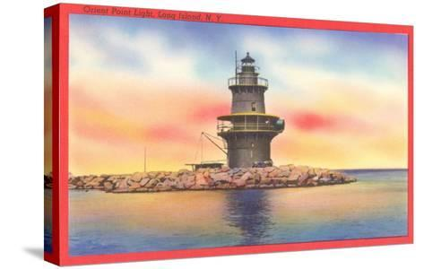 Orient Point Lighthouse, Long Island, New York--Stretched Canvas Print