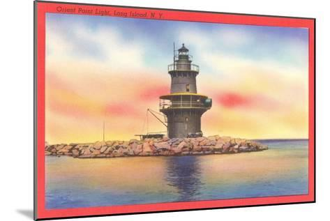 Orient Point Lighthouse, Long Island, New York--Mounted Art Print