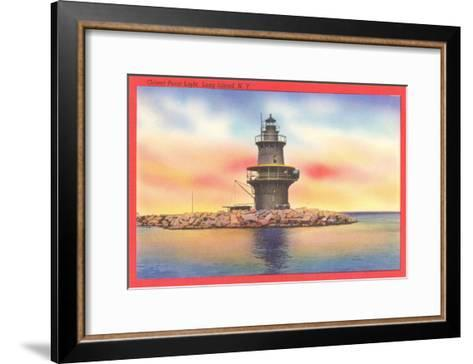 Orient Point Lighthouse, Long Island, New York--Framed Art Print