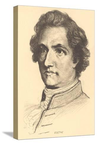 Pencil Sketch of Goethe--Stretched Canvas Print