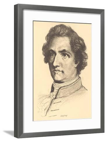Pencil Sketch of Goethe--Framed Art Print