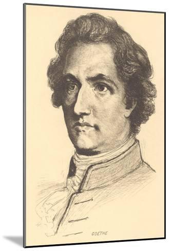 Pencil Sketch of Goethe--Mounted Art Print
