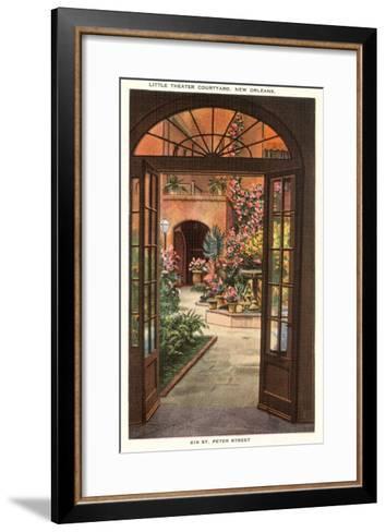 Little Theatre Courtyard, New Orleans, Louisiana--Framed Art Print