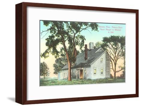 Rebecca Nurse House, Hanged for Witchcraft in 1692, Danvers, Mass--Framed Art Print