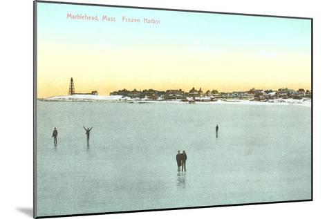 Frozen Harbor, Marblehead, Mass.--Mounted Art Print