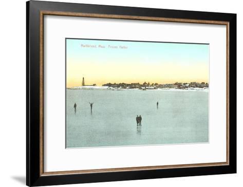 Frozen Harbor, Marblehead, Mass.--Framed Art Print