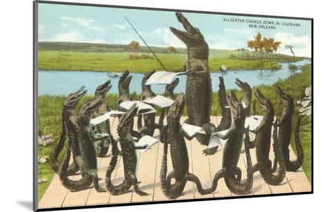 Alligator Chorus in New Orleans, Louisiana--Mounted Art Print