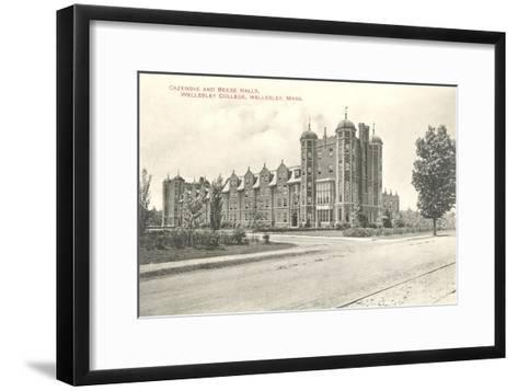 Cazenove and Beebe Halls, Wellesley College, Wellesley, Mass.--Framed Art Print