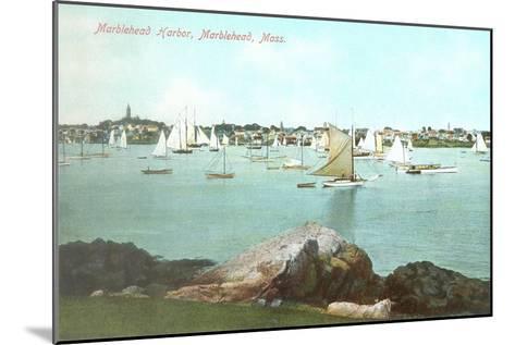 Marblehead Harbor, Marblehead, Mass.--Mounted Art Print
