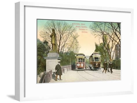 Subway Entrance, Boston, Mass.--Framed Art Print