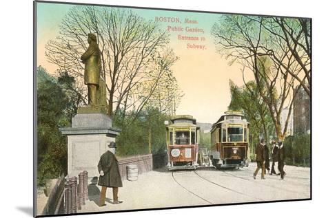 Subway Entrance, Boston, Mass.--Mounted Art Print