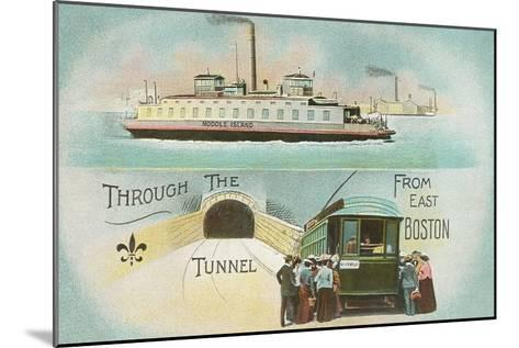 Through the Tunnel, East Boston, Mass.--Mounted Art Print