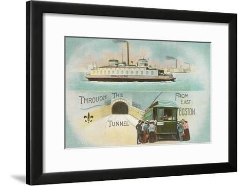 Through the Tunnel, East Boston, Mass.--Framed Art Print