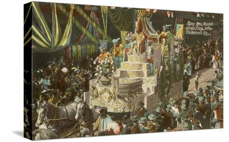 King Rex, Mardi Gras, New Orleans, Louisiana--Stretched Canvas Print