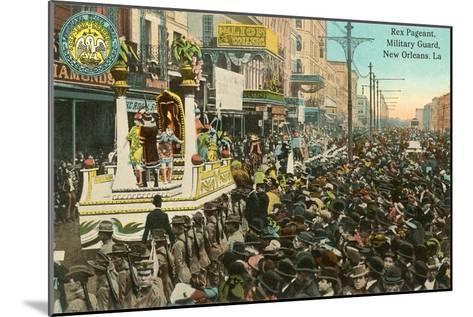 Mardi Gras Parade, New Orleans, Louisiana--Mounted Art Print