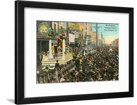 Mardi Gras Parade, New Orleans, Louisiana--Framed Art Print