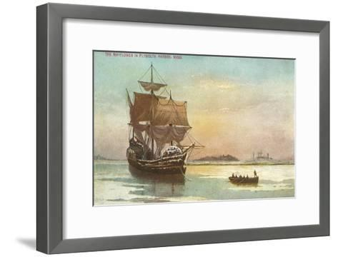 Mayflower, Plymouth, Mass., Illustration--Framed Art Print