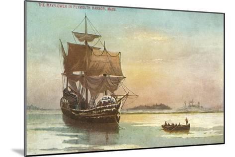 Mayflower, Plymouth, Mass., Illustration--Mounted Art Print