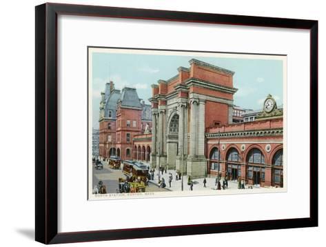 North Station, Boston, Mass.--Framed Art Print