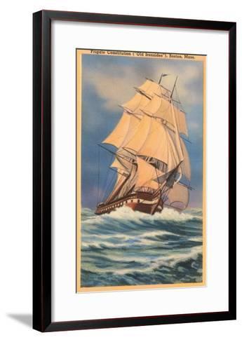 Old Ironsides Painting, Boston, Mass.--Framed Art Print