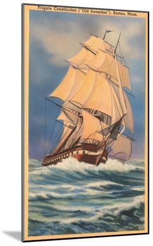Old Ironsides Painting, Boston, Mass.--Mounted Art Print