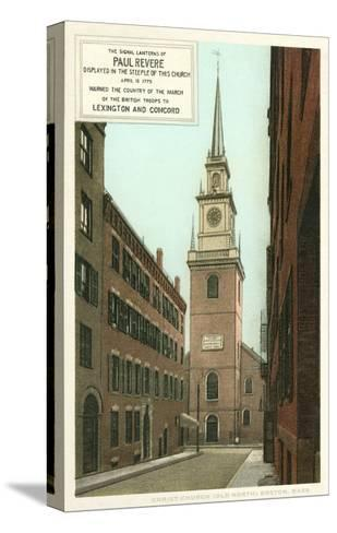 Old North Church, Paul Revere, Boston, Massachusetts--Stretched Canvas Print