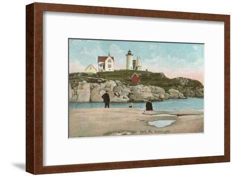 Nubble Lighthouse, York, Maine--Framed Art Print