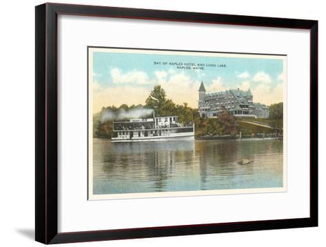 Naples Hotel, Long Lake, Maine--Framed Art Print