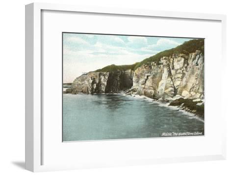 The Grotto, Orr's Island, Maine--Framed Art Print