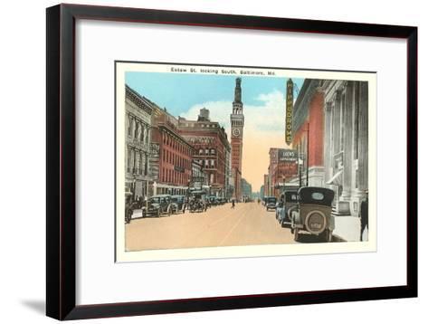 Eutaw Street, Baltimore, Maryland--Framed Art Print