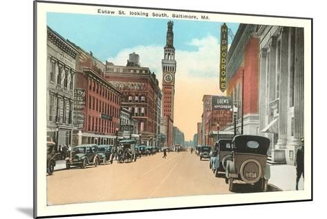 Eutaw Street, Baltimore, Maryland--Mounted Art Print