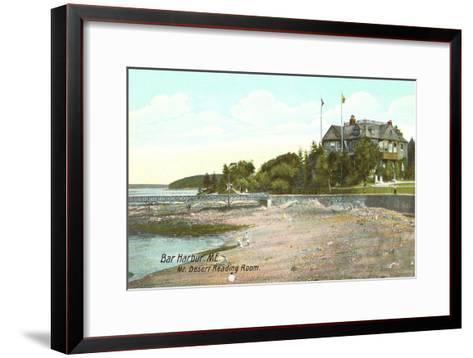 Mt. Desert Reading Room, Bar Harbor, Maine--Framed Art Print