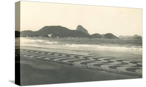 Beach at Copacabana--Stretched Canvas Print